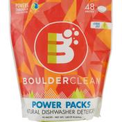 Boulder Clean Dishwasher Detergent, Natural, Power Packs, Citrus Zest