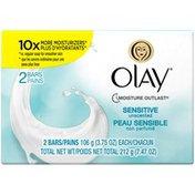 OLAY Sensitive Olay Moisture Outlast Sensitive Beauty Bar 3.75 oz 2 count Personal Cleansing