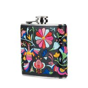 Blush Embroidered Flask