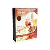 Meijer Multigrain Cinnamon Squares Cereal