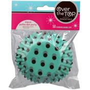 Over The Top Aqua Polka Dot Party Baking Cups