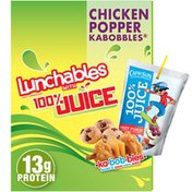 Lunchables Chicken Popper Kabbobles Meal Kit with American Cheese, Pretzel Sticks, Capri Sun Fruit 100% Juice Drink & Mini Chocolate Chip Cookies