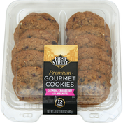 First Street Gourmet Cookies, Premium, Oatmeal Cranberry with Walnuts