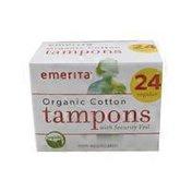 Emerita Organic Cotton Regular Non-Applicator Tampons