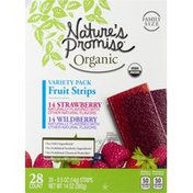 Nature's Promise Fruit Strips, Organic, Variety Pack, Family Size