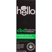 hello Toothpaste, Fluoride Free, Natural Fresh Mint Flavor, CBD