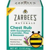 Zarbee's Naturals Children's Chest Rub, Eucalyptus, Lavender, Pine & Beeswax