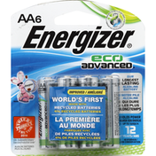 Energizer Eco Advanced Alkaline Batteries, AA