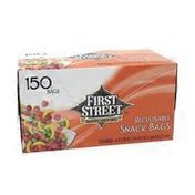 First Street Reclosable Snack Bags