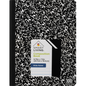 Smart Living Composition Book Wide Ruled