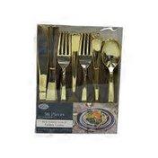 Lillian Tablesettings Plastic Cutlery Silverware Extra Heavyweight Disposable Flatware