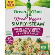 Green Giant Simply Steam Riced Cauliflower, Broccoli Florets & Cheese Sauce