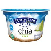 Stonyfield Organic Greek and Chia Nonfat Pear Organic Yogurt
