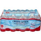 Crystal Geyser Alpine Spring Water Natural Alpine Spring Crystal Geyser Natural Alpine Spring Water