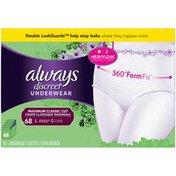 Always Incontinence Underwear for Women, Maximum Classic Cut, Large