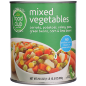 Food Club Mixed Vegetables Carrots, Potatoes, Celery, Peas, Green Beans, Corn & Lima Beans