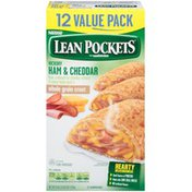 Lean Pockets Ham & Cheddar Frozen Sandwiches