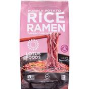 Lotus Foods Rice Ramen, Turmeric Curry Soup, Purple Potato