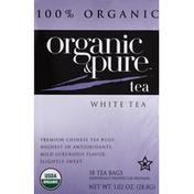 Pure Organic White Tea, Organic, Bags