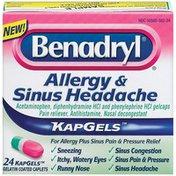 Benadryl Allergy & Sinus Headache Tablet