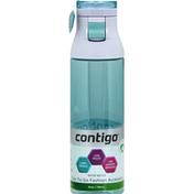 Contigo Water Bottle, Grayed Jade, Jackson, 24 Ounce