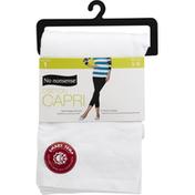 No nonsense Legging, Cotton Capri, White, Large