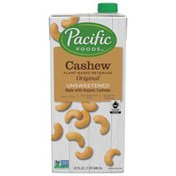 Pacific Fair Trade Made with Organic Cashew Unsweetened Original Beverage