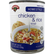 Hannaford Chicken & Rice Soup Homestyle
