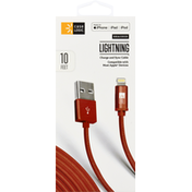 Case Logic Charge and Sync Cable, Lightning, Braided, 10 Feet
