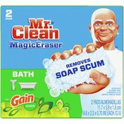 Mr. Clean Magic Eraser Bath With Gain Original Scent, Cleaning Pads With
