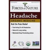 Forces of Nature Headache, Organic, Roll On, Lavendula Vera
