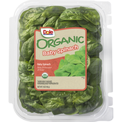 Dole Baby Spinach, Organic, Mildly Bittersweet & Tender