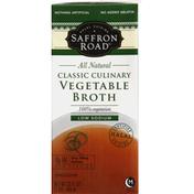 Saffron Road Vegetable Broth, Classic Culinary, Low Sodium