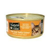 Natural Value Pate Style Turkey Dinner Canned Cat Food