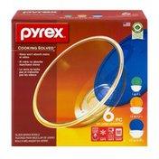 Pyrex Glass Mixing Bowls - 6 PC