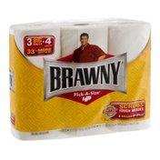Brawny Pick-A-Size Paper Towel Big Rolls White - 3 CT