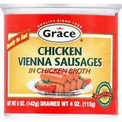 Grace & I Vienna Sausages, Chicken, in Chicken Broth