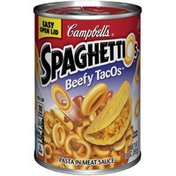 Spaghettios Beefy TacOs Canned Pasta
