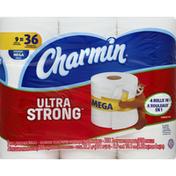 Charmin Ultra Strong Bathroom Tissue, Mega Rolls