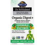 Garden of Life Enzymes, Chewable, Tropical Fruit Flavor