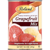 Roland Grapefruit Mix, Whole White & Ruby Red, Segments in Light Syrup