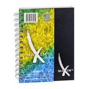 """Maxim 1 Subject 80 Sheets College Ruled 7"""" x 5"""" Notebook"""