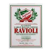 Sapore Fine Gourmet Pasta Large Round Ravioli Cheese - 12 CT