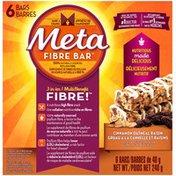 Meta Health Bar Meta Fibre Bar Cinnamon Oatmeal Raisin 6 Count Laxative