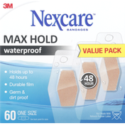 Nexcare Bandages, Max Hold, Waterproof, One Size, Value Pack