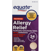 Equate Allergy Relief, Non-Drowsy, 180 mg, Tablets