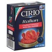 Cirio Tomatoes, Crushed, Italian, Chili Peppers, Brick