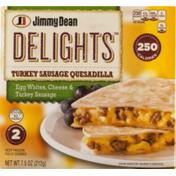 Jimmy Dean DelightsTurkey Sausage Quesadilla Egg Whites, Cheese & Turkey Sausage