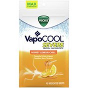Vicks Vapocool Medicated Lozenges, Honey Lemon Chill