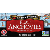 Crown Prince Flat Anchovies, in Pure Olive Oil